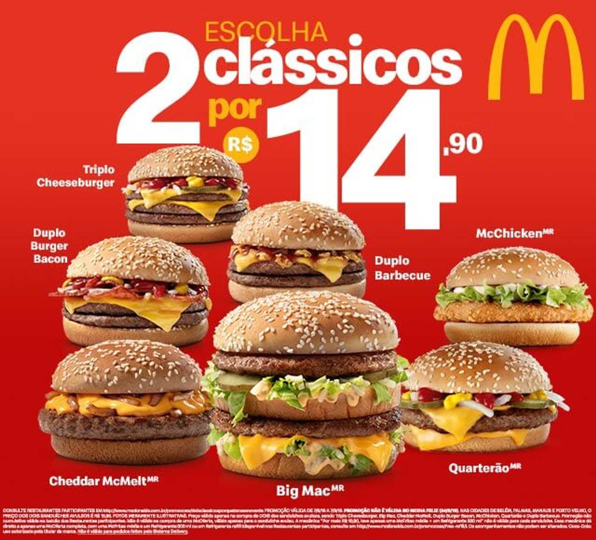 McDonald's - encarte válido de 07.08.2019 até 07.09.2019 - página 1.