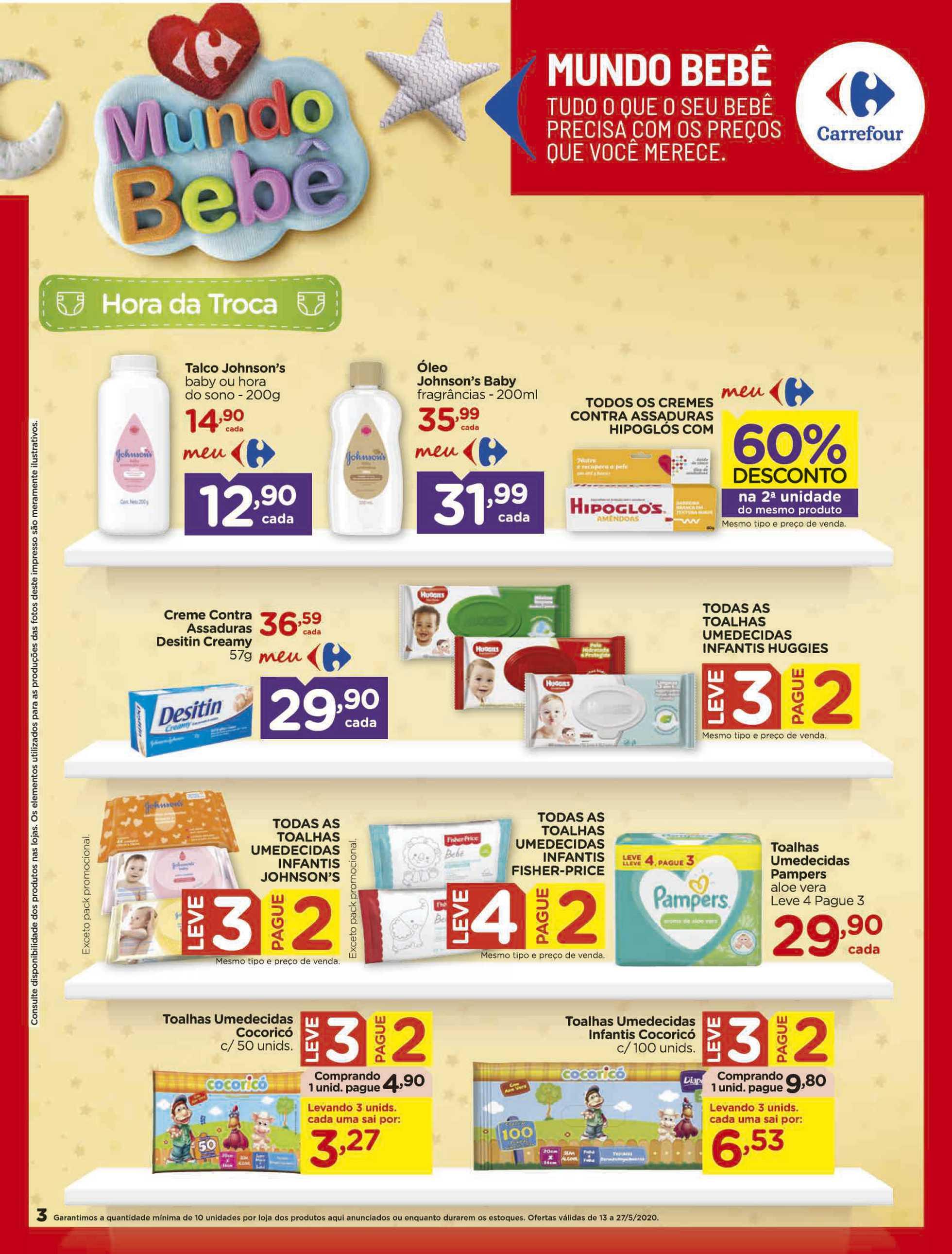 Carrefour - encarte válido desde 13.05.2020 até 27.05.2020 - página 3. Neste folheto você poder encontrar fraldas, estandes, galinha, galinha, estandes, fraldas