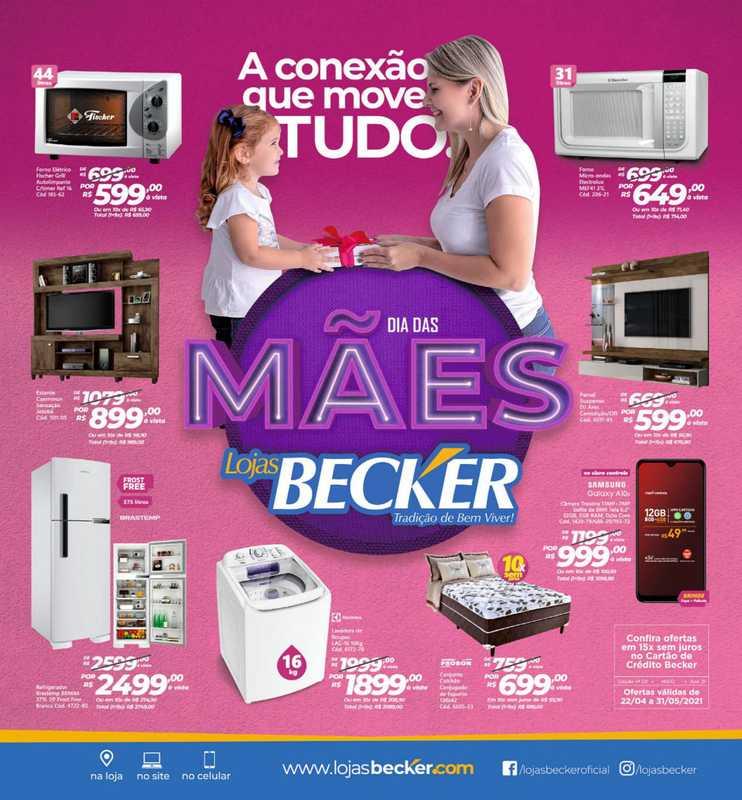 Lojas Becker - encarte válido de 22.04.2021 até 09.05.2021 - página 1.