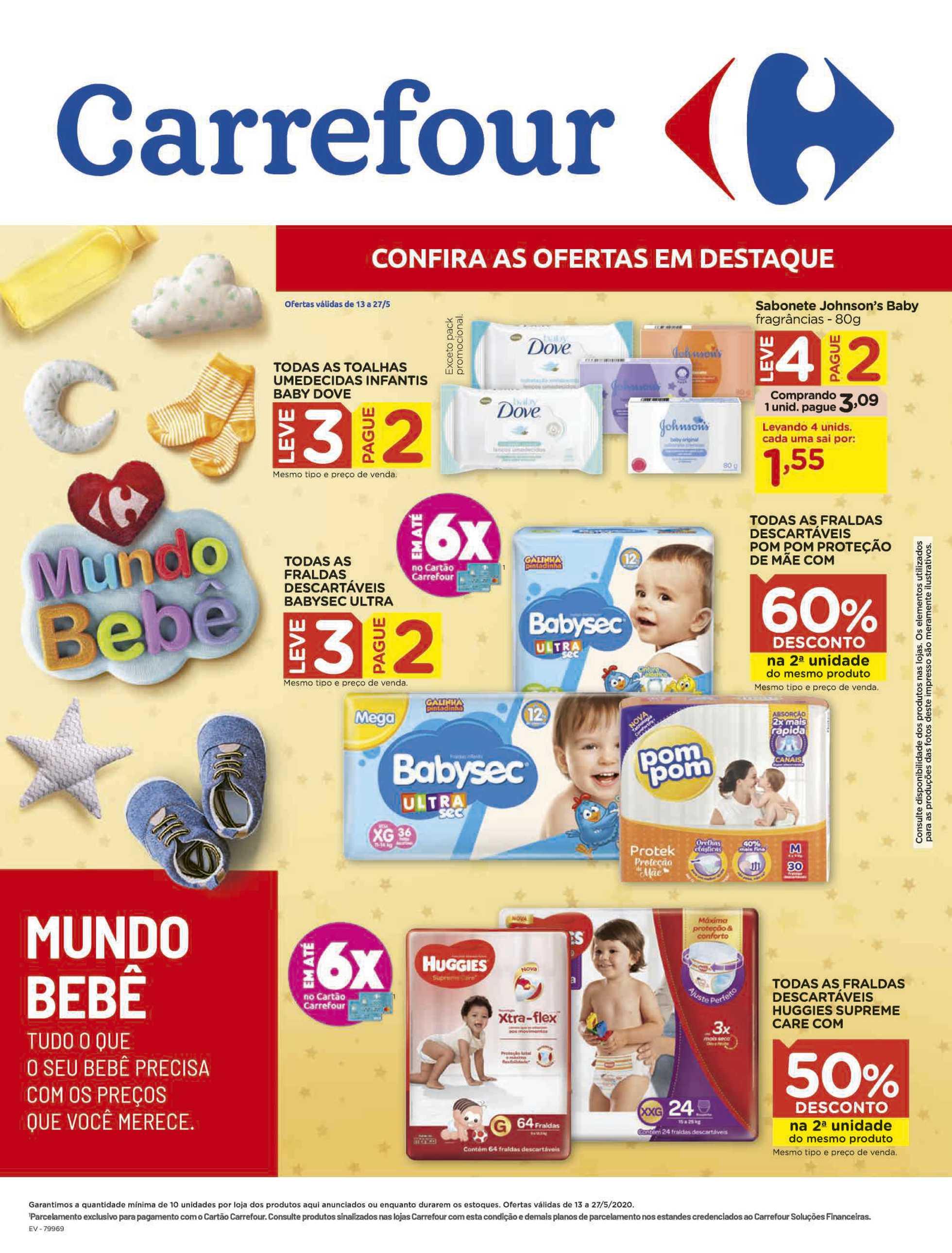 Carrefour - encarte válido desde 13.05.2020 até 27.05.2020 - página 1. Neste folheto você poder encontrar estandes, fraldas, galinha, galinha, fraldas, estandes